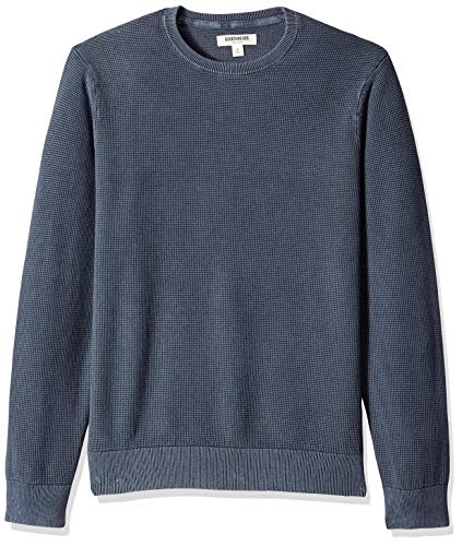 (Goodthreads Men's Soft Cotton Thermal Stitch Crewneck Sweater, Washed Navy, XX-Large)