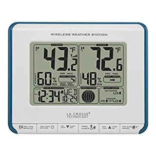 La Crosse Technology 308-1711BL Wireless Weather Station with Heat Index and Dew Point, Teal Blue/White (B00EOW946G) | Amazon price tracker / tracking, Amazon price history charts, Amazon price watches, Amazon price drop alerts