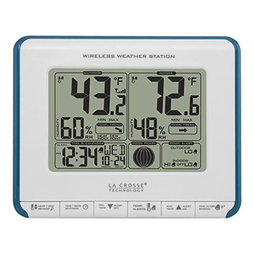 La Crosse Technology 308-1711BL Wireless Weather Station with Heat Index and Dew Point (Trend Weather Weather Station)