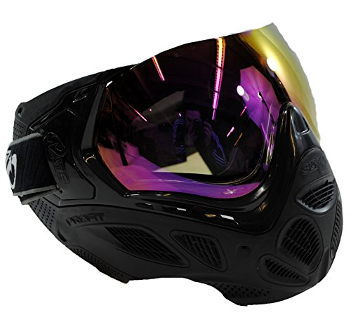 SLY Profit Thermal Paintball Mask Anti-Fog Goggle - Black w/ Purple Mirror Lens by Sly Profit