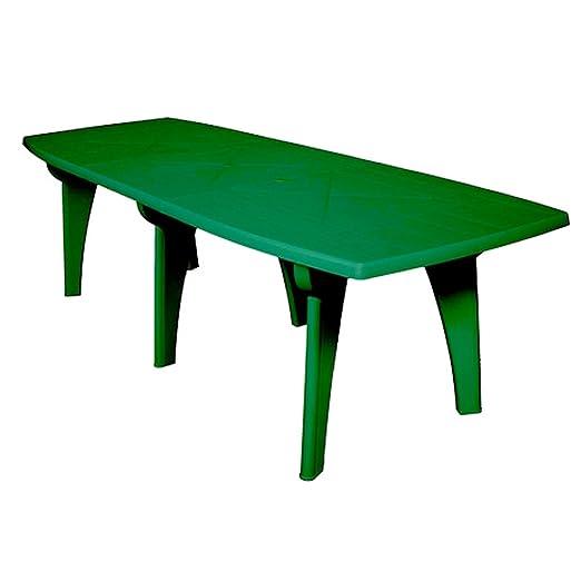 SIBrand Evergreen mesa de resina verde 250 x 90 x h72 Muebles ...