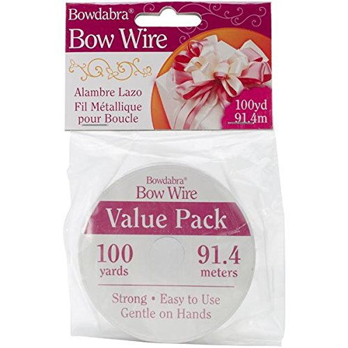 Jewelry Bow Accessories (Darice Bowdabra Bow Wire, 100-Yard, Silver)