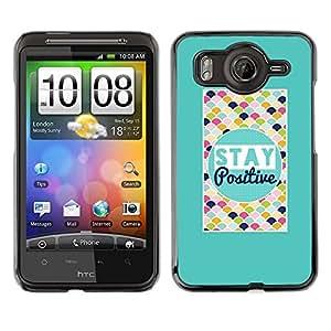 TopCaseStore / la caja del caucho duro de la cubierta de protección de la piel - Stay Positive Colorful Quote Motivational - HTC G10