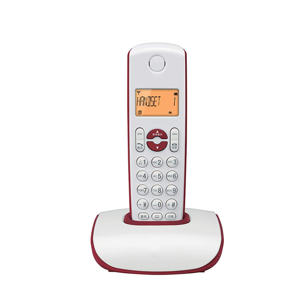 GQQ Vintage Telephone Fashion Digital Cordless Fixed Home Office Landline (Color : Red)