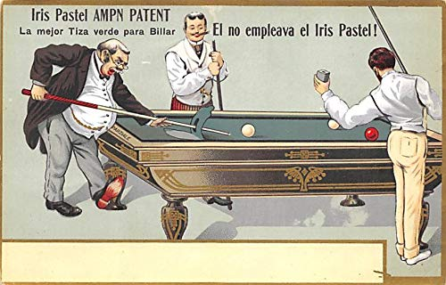 Iris Pastel AMPN Patent Pool Billiards Carte Postale Unused