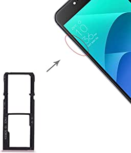 Spart Parts Repair Parts SIM Card Tray + SIM Card Tray + Micro SD Card Tray for Asus Zenfone 4 Selfie ZD553KL / ZB553KL (Dark Blue) (Color : Gold)