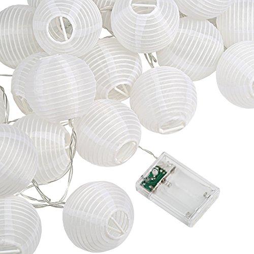 Kesoto 30 LED Lantern String Lights Decorative Stringed LED String Lights Lanterns for Outdoor, Indoor, Garden, Patio, Bedroom Wedding Decorations (Warm White, 15 Feet) (Indoor Lantern Lights)