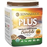 Sunwarrior - Classic Plus, Raw Organic Plant Based Protein, Chocolate, 20 Servings (1.1 lbs)
