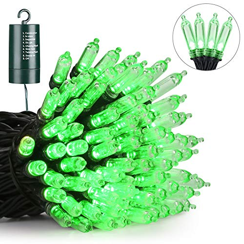 Battery LED Christmas Lights, 39ft 100 LED String Lights Waterproof with 8 Modes & Automatic Timer for Home, Patio, Lawn, Garden, Party and Holiday Decoration(Green) from Joomer