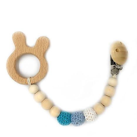 Coskiss Perlas de ganchillo Animal de madera mordedor de ...