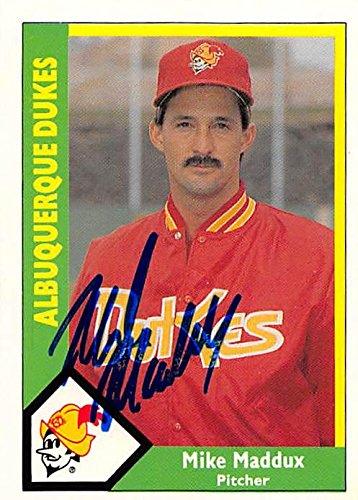 Mike Maddux Autographed Baseball Card Albuquerque Dukes