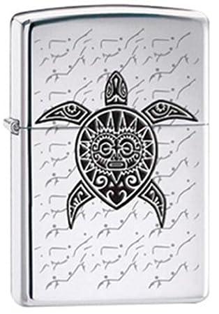 Encendedor Zippo cromado con diseño de tortuga marina hawaiana ...