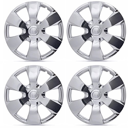BDK KT-1000-16-C_King1 Chrome 16 Hubcaps Wheel Covers for Toyota Camry (16 inch) - Four (4) Pieces Corrosion-Free & Sturdy - Full Heat & Impact Resistant Grade - OEM Replacement, 4 Pack