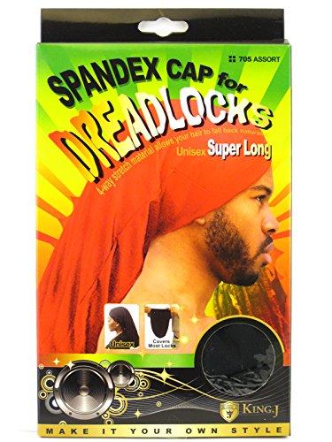 King.J King.J Super Long Unisex Spandex Cap For Dreadlocks (Black) price tips cheap