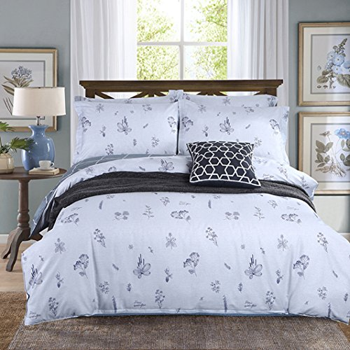Cheap Kiss Tell Cotton Floral Students Dormitory Kids Duvet Cover Set White 3PC Soft Bedding Set with 1 Duvet Cover and 2 Pillowcases by (twin, flower) supplier