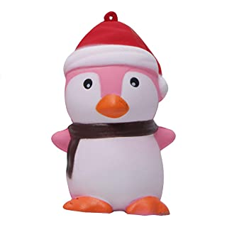 Xuniu Decompression PU Squeeze Toy, Giocattoli Modello Penguin Christmas Slow Rising Gift 9.5x6.3x6.3cm