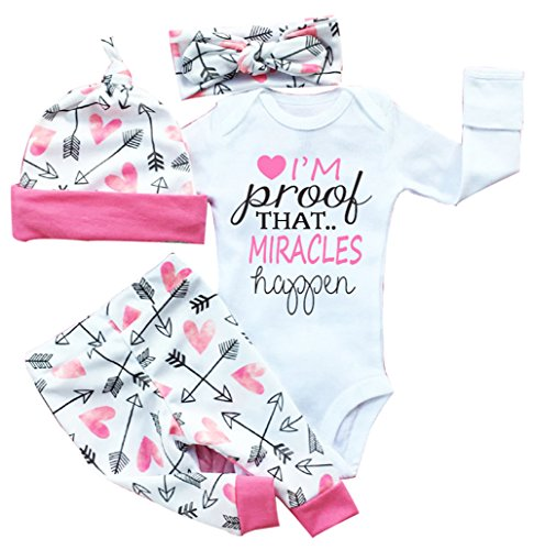 baby-girls-clothes-long-sleeve-miracles-romper-outfit-pants-set-hat-headband-0-3-months-pink