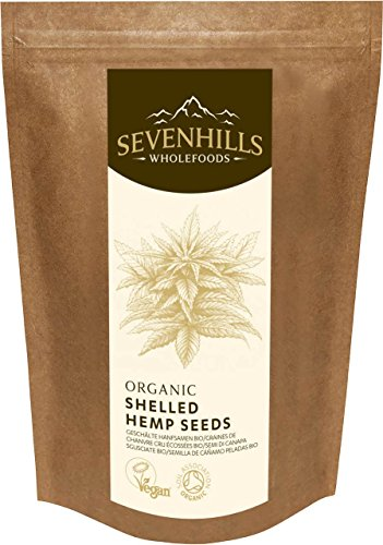 Sevenhills Wholefoods Organic Raw Shelled Hemp Seeds 500g