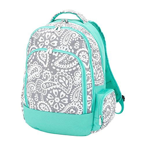 Reinforced Design Water Resistant Backpack - Parker Blue Grey Paisley