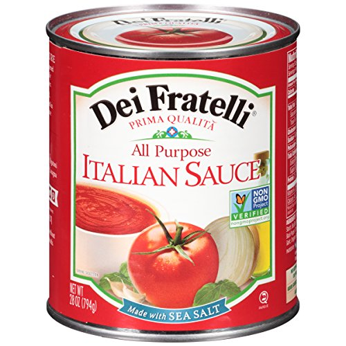 Dei Fratelli Italian Sauce - All Natural - No Water Added - Never from Tomato Paste - 5th Generation Recipe (28 oz. cans; 12 pack)