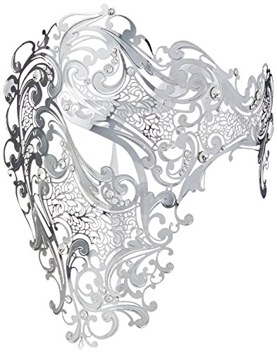 Luxury Mask Men's Signature Phantom Of The Opera Half Face Mask Metal