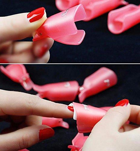 10pcs Reusable UV Gel Nail Polish Remover Wrap Tool Nail Art Soak Off Cap Clip Gel Cleaner Tools