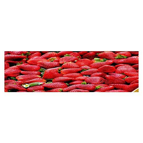 - Leighhome Aquarium Sticker Seductive Fresh Strawberry Fish Tank Backdrop Static Cling L23.6 x H11.8