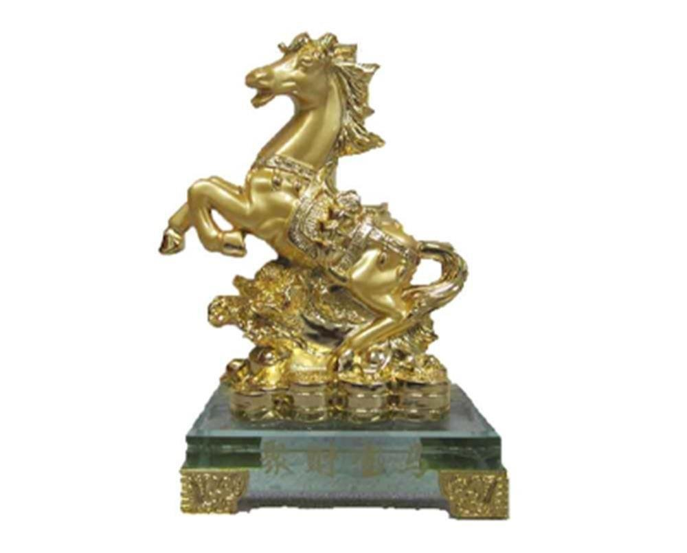 StealStreet SS-MU-LF063 Horse Crystal Base with Cabbage Figurine