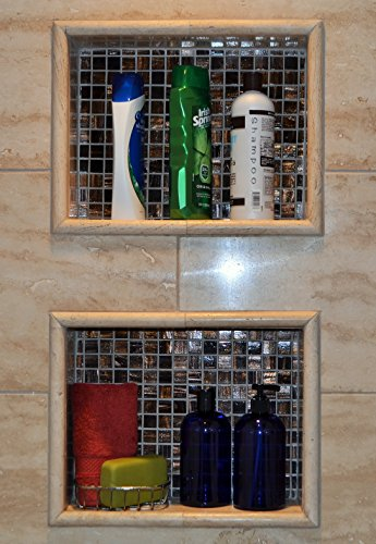 BAIRE BOTTLES - 16 OZ BLUE PLASTIC REFILLABLE BOTTLES with BLACK Pumps - ORGANIZE Soap, Shampoo and Lotion with a Clean, Classy Look - PET, Lightweight, BPA Free - 6 Pack, BONUS 6 FLORAL LABELS by Baire Bottles (Image #3)