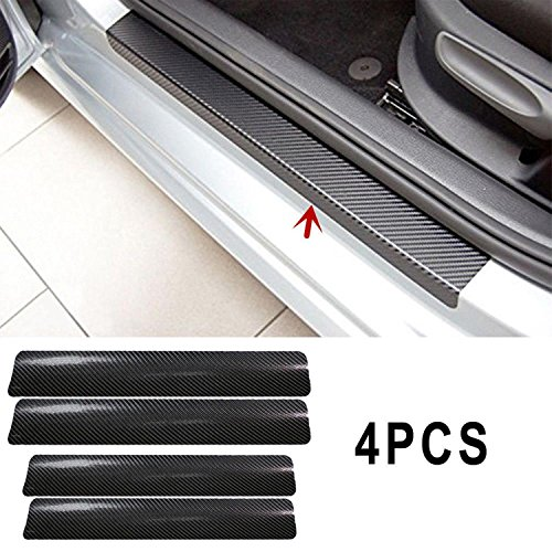 Universal Car Protect Stickers Car Door Sill Scuff Anti Scratch Carbon Fiber Stickers Car Protect Accessories (Sill Emblems Door)