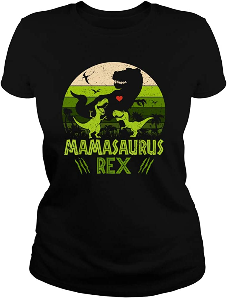 Mother Day Tshirt Mamasaurus Mother Day Tshirt for Women