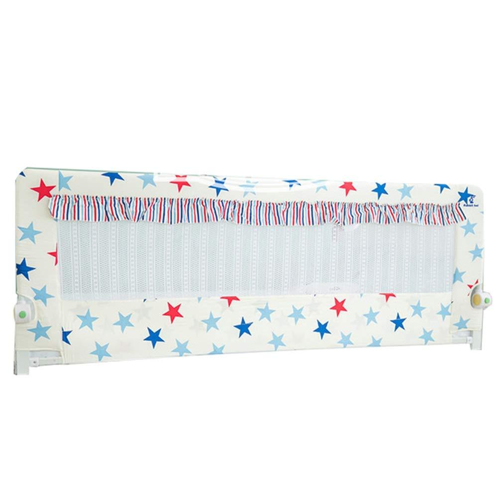 ベッドフェンス 子供用ベッドレールダブルベッド/シングルベッド、折りたたみ式ベッドガード付きミュートボタン、ベッドガードレール安全補助レール (サイズ さいず : 1.8m) 1.8m  B07PQWFDBV