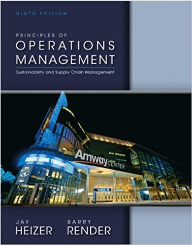 Principles Of Operations Management Th Edition Th Edition