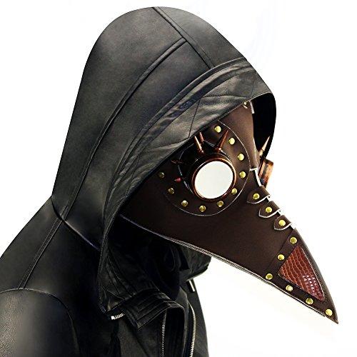 Hibiscus HIBIRETRO Steampunk Gothic Retro Plague Beak Doctor Bird Mask Halloween Christmas Costume Props 2018 (Style7)