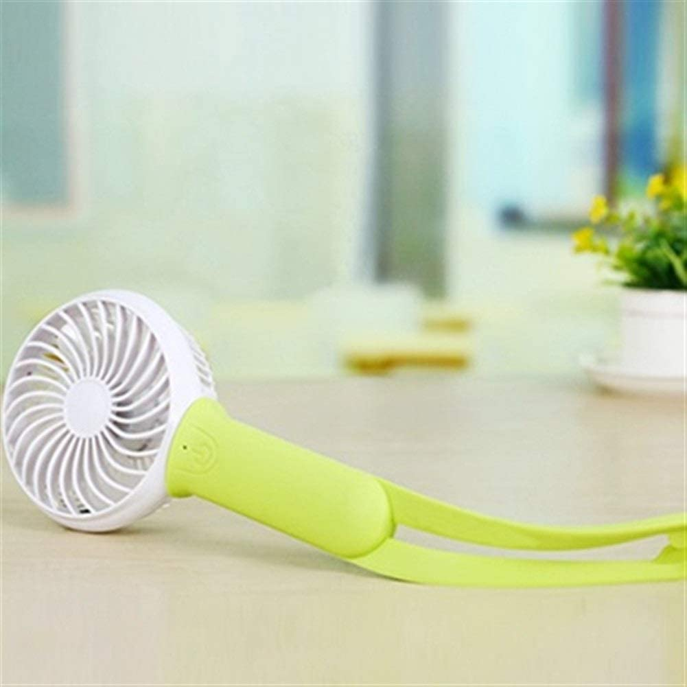 Color : Green Air Cooler Mini USB Hand Fan Battery Rechargeable Cooling Electric Fan Led Light Air Cooler Adjustable Blower