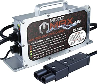 MODZ Max48 Yamaha G19 - G22 Battery Charger for 48 Volt Golf Carts