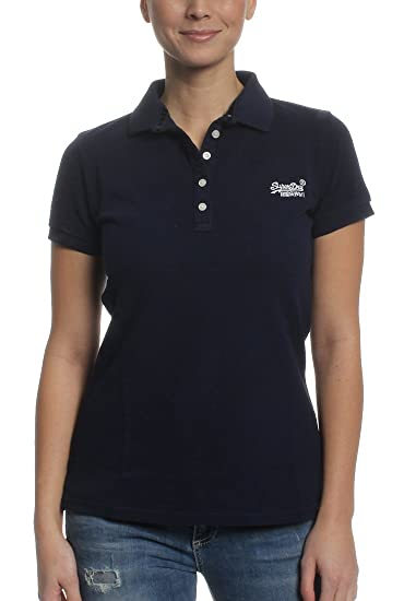 Superdry Classic, Polo para Mujer, Azul (navy), XL: Amazon.es ...