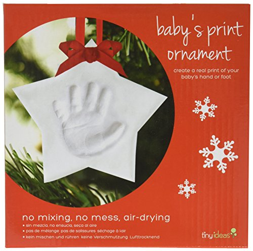 Tiny Ideas Baby's Handprint Ornament, Star