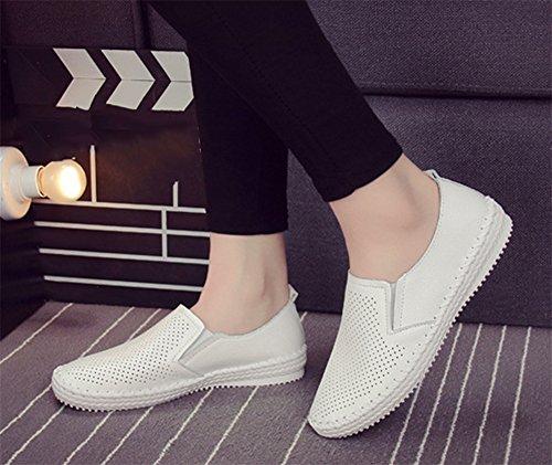xie Été Printemps Automne Strass Fil à Coudre évidement Respirant Chaussures de Femmes de la Mode Basse-Top Chaussures Plates Petites Chaussures Blanches Femmes white icHJYk