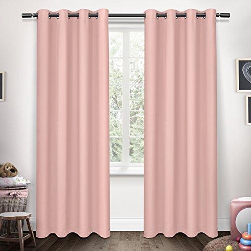 Exclusive Home Curtains Sateen Kids Blackout Grommet Top Window Curtain Panel Pair, Bubble Gum Pink, 63x52 - Exclusive Bubble