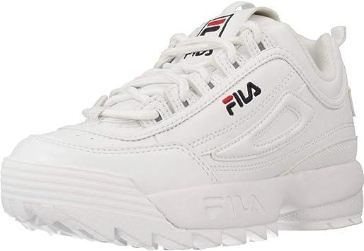 FILA Disruptor, Zapatillas Unisex niños, White, 37 EU: Amazon.es: Zapatos y complementos