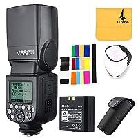 Godox V860II-C Pionero 2.4G Wireless E-TTL II Li-on Flash de cámara Compatible con Speedlite Canon 6D 50D 60D 1DX 580EX II 5D Mark II III (V860II-C)