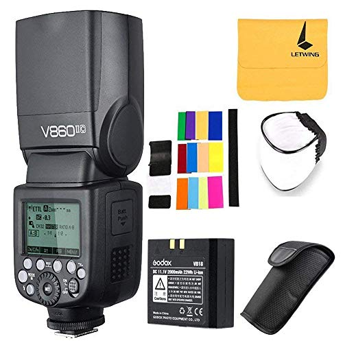 Godox V860II-C Pioneering 2.4G Wireless E-TTL II Li-on Camera Flash Speedlite Compatible for Canon 6D 50D 60D 1DX 580EX II 5D Mark II III (V860II-C)
