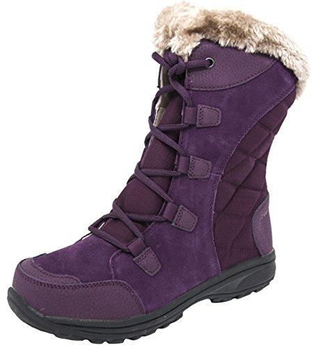 Leather Columbia (Columbia Women's Ice Maiden II Snow Boot (8 B(M) US, Dahlia/Tan))