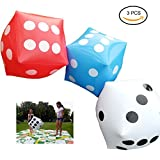 Inflatable Dice, 14 Inch Giant Yard Numeral Dice Lawn Games for Outdoor Fun, Picnic, Free Floor Games