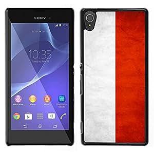LECELL--Funda protectora / Cubierta / Piel For Sony Xperia T3 -- Nacional bandera de la nación País Indonesia --