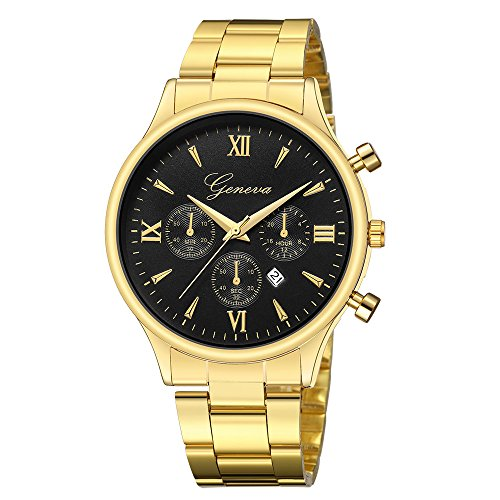 Gorday Men's Watches Sale Clearance,Men Analog Sport Quartz Watch Fashion Wrist Watch Casual Business Bracelet Watches Gift,Round Dial Case Stainless SteelWatches (H)