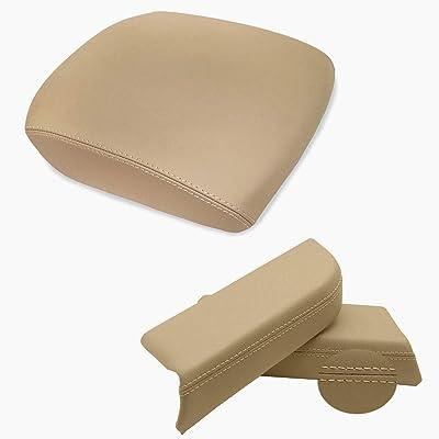 Dunhil Center Console Cover Front Door Armrest Replacement Kit Fits for 2009-2013 Honda Pilot (Beige): Automotive