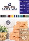 American Soft Linen Towel Set 2 Bath Towels 2 Hand