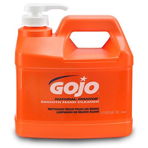 Gojo Orange Smooth Hand Cleaner - GOJO 0948-04 Natural Orange Smooth Hand Cleaner, 1/2 Gallon Pump Bottle (Pack of 4)
